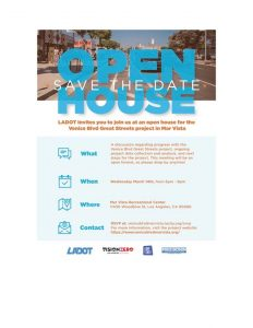 Open House For Great Streets-Mar Vista