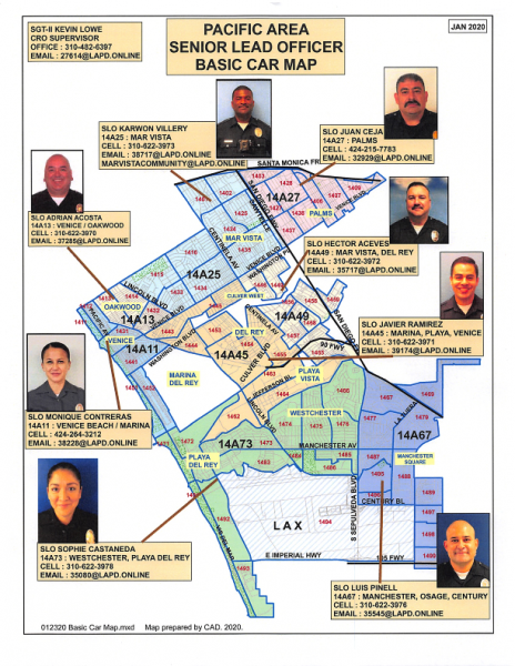 Pacific Area Senior Lead Officer Map